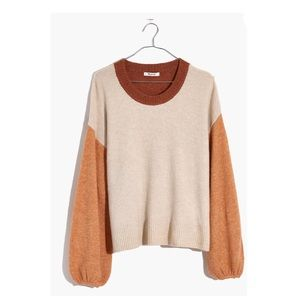 Madewell colorblock Payton pullover sweater